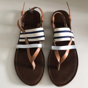 Woven strappy sandals